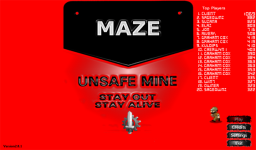 Main menu with online scoreboard.[br /][a href='http://lastend.com/Download/Games/Maze_Unsafe_Mine.aspx']DOWNLOAD[/a]